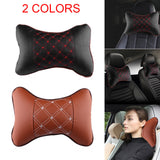 1Pcs 28X20CM  Cars Seat Support Cushions Headrest Car Neck Safety Rest Cushion PU Leather For Ford BMW for TOYOTA for Volkswagen