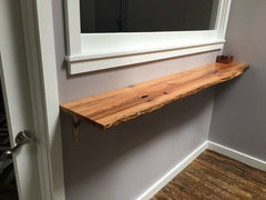 live edge shelf installed by The Old Grain Co