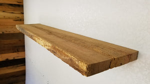 1.5 x 10.5 x 48.5 Live Edge/Straight Edge red oak