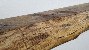 6x9x74.5 Oak Live edge mantel (Dull Polyurethane Finish)
