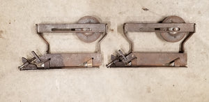 Pair Of Metal Antique Barn Door Rollers