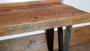 Circle Saw Oak Bench