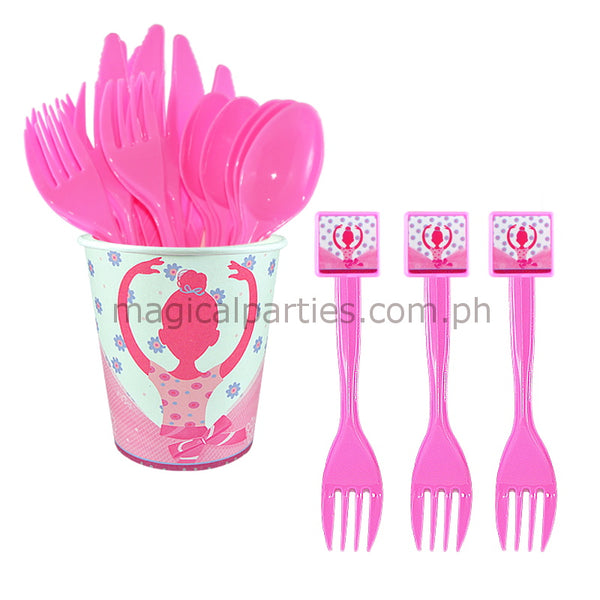 BALLERINA 6pc Party Fork Set