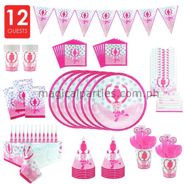 BALLERINA Party Kit Deluxe Set for 12 Guests
