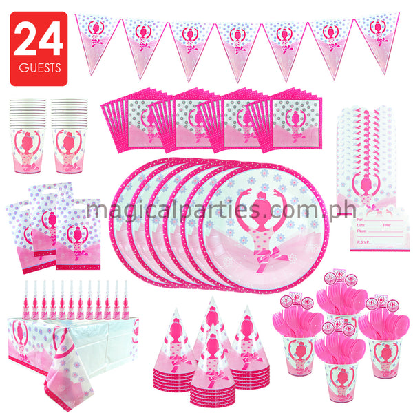 BALLERINA Party Kit Premium Set for 24 Guests