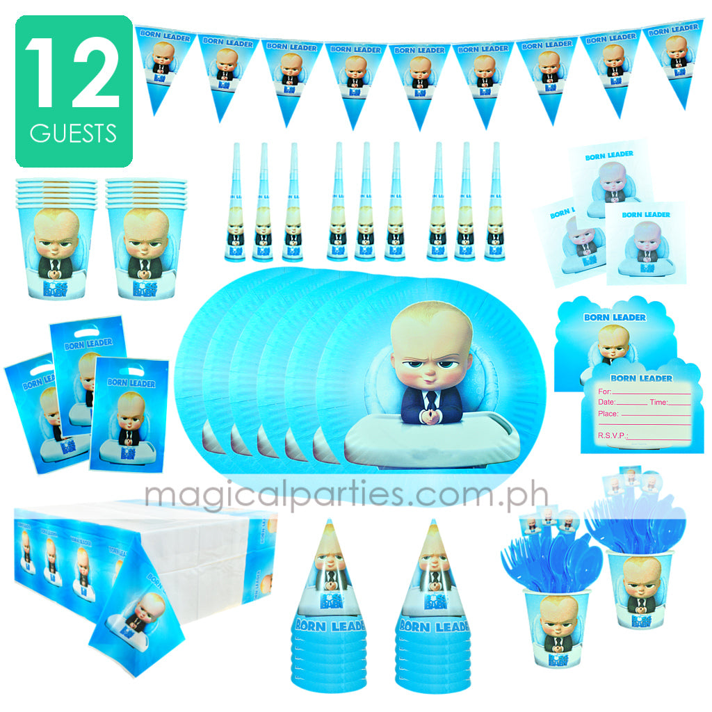 BOSS BABY Party Kit Deluxe Set for 12 Guests