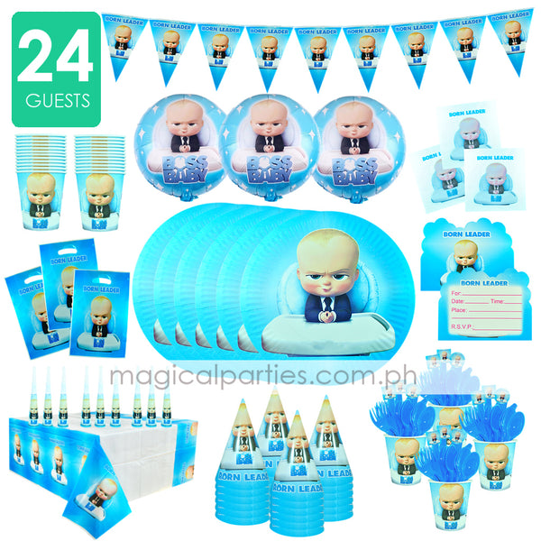 BOSS BABY Party Kit Premium Set for 24 Guests