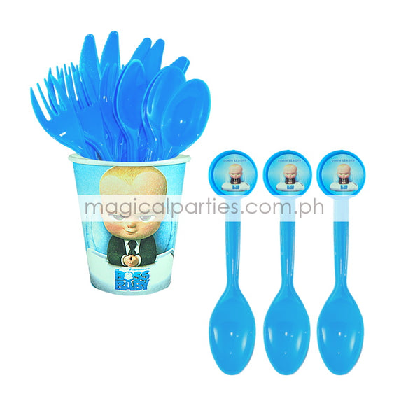BOSS BABY 6pc Party Spoon Set