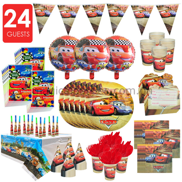 CARS Party Premium Set for 24 Guests