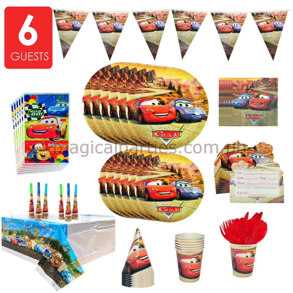 CARS Party Basic Set for 6 Guests