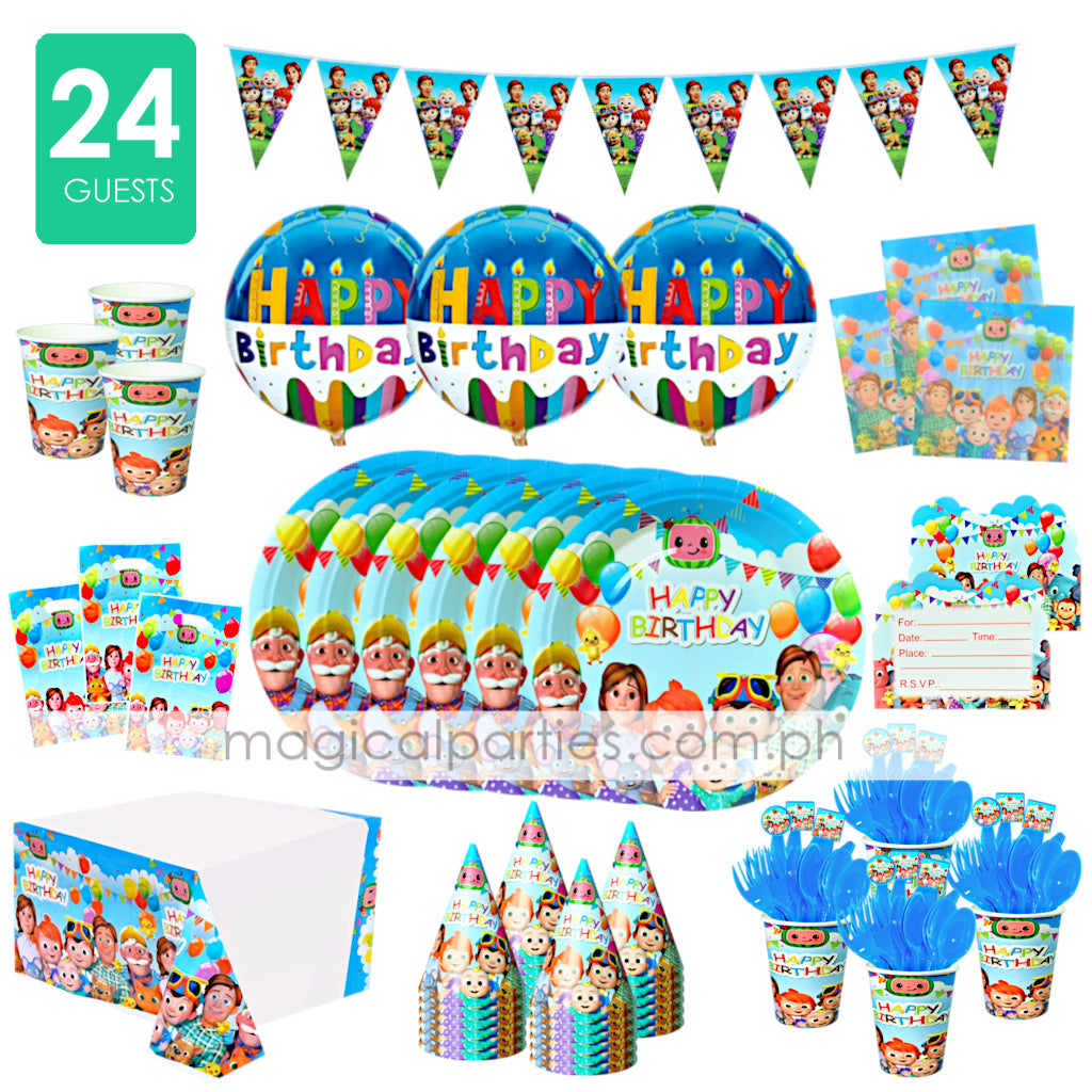 COCOMELON Party Kit Premium Set for 24 Guests