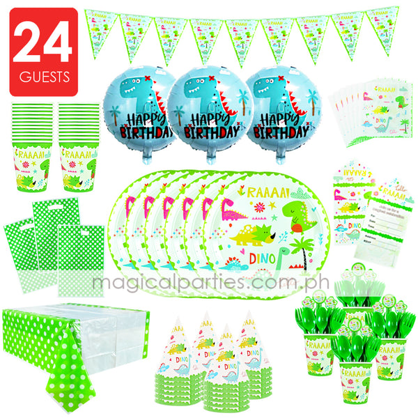 DINOSAUR Party Kit Premium Set for 24 Guests