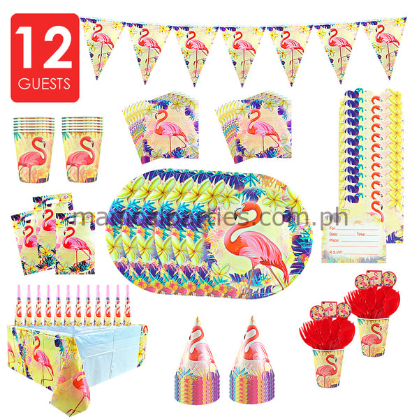 FLAMINGO Party Kit Deluxe Set for 12 Guests