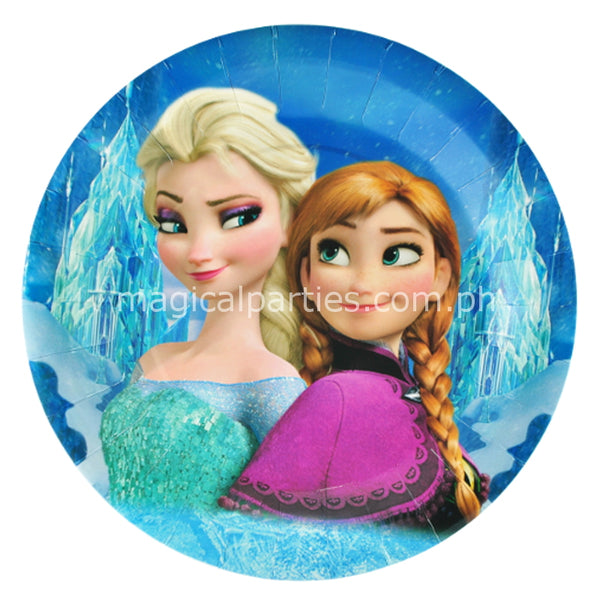 frozen party plates