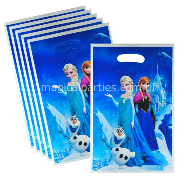 frozen party gift or loot bags