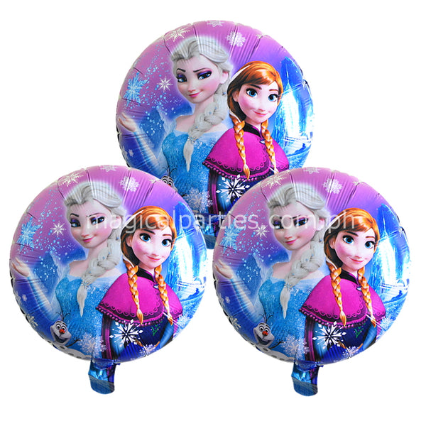 frozen party foil balloons