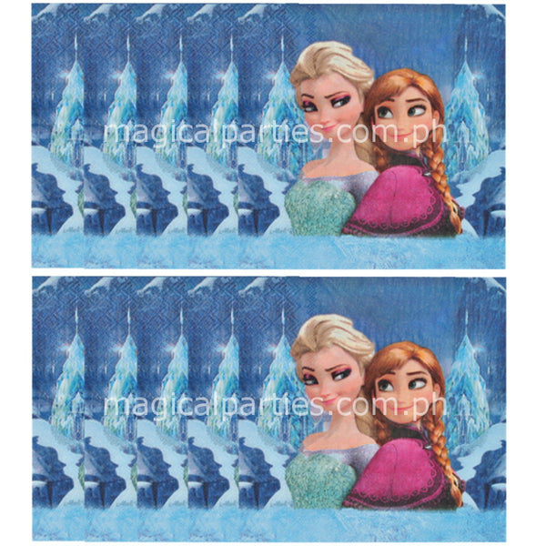 Frozen party napkins