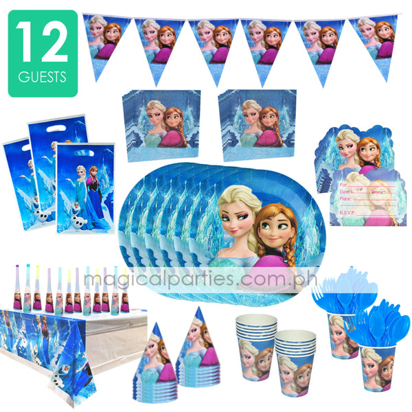 FROZEN Party Deluxe Set for 12 Guests