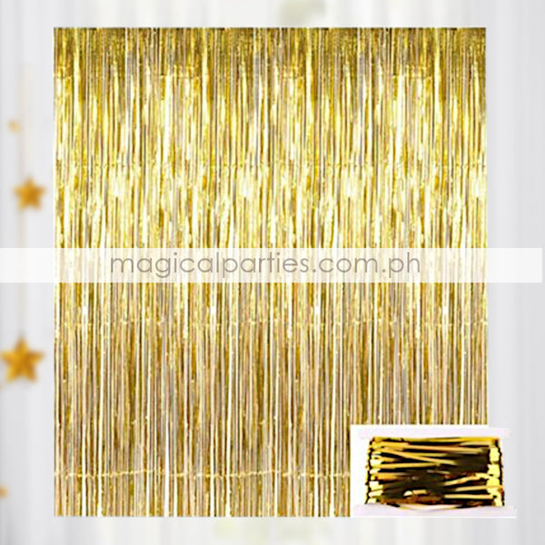 ADD ONS Foil Curtain Gold