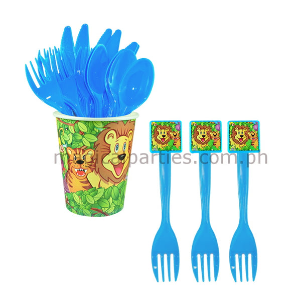 JUNGLE SAFARI 6pc Party Fork Set