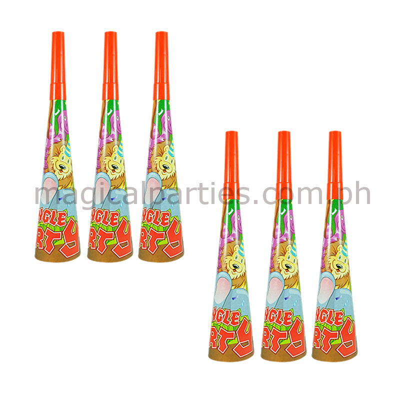 JUNGLE SAFARI 6pc Party Horns Set