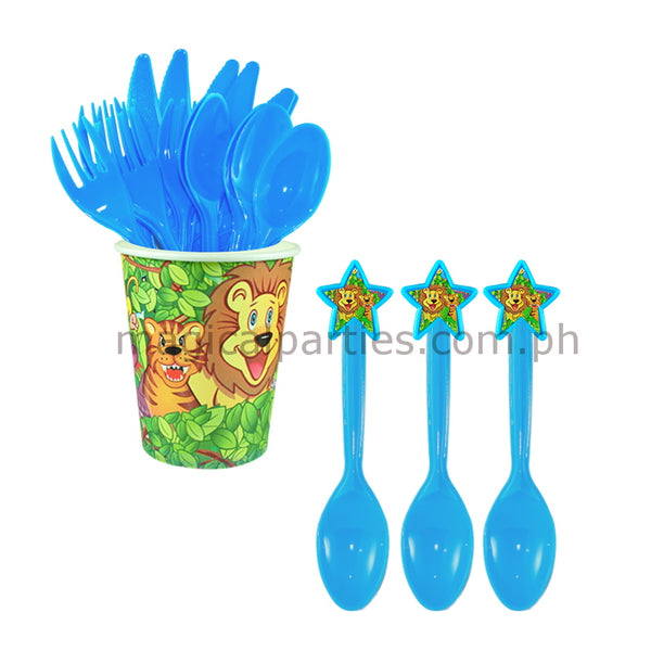 JUNGLE SAFARI 6pc Party Spoon Set