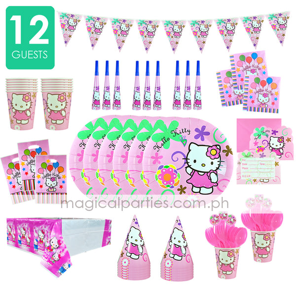 HELLO KITTY Party Kit Deluxe Set for 12 Guests