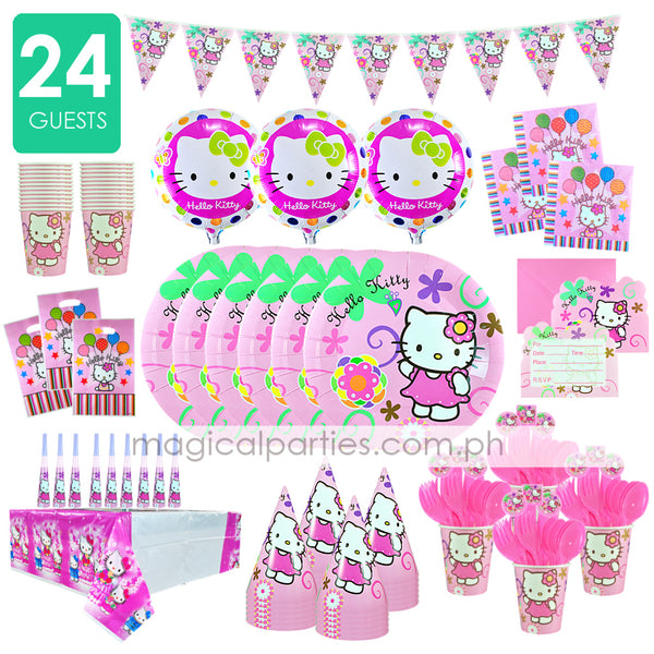 HELLO KITTY Party Kit Premium Set for 24 Guests
