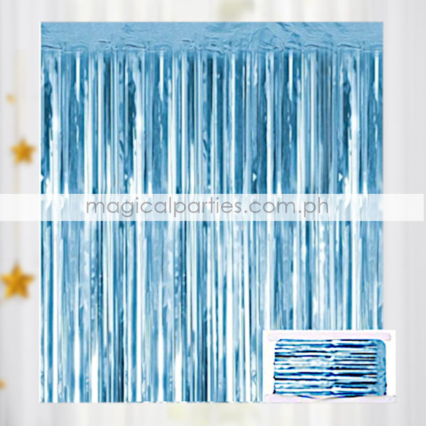 ADD ONS Foil Curtain Light Blue