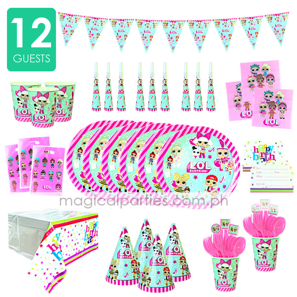 L.O.L SURPRISE Party Kit Deluxe Set for 12 Guests