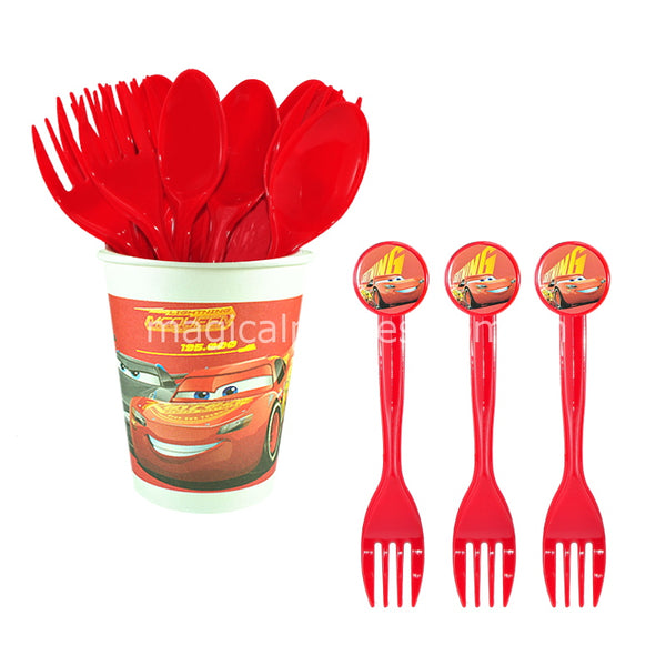 RACING MCQUEEN 6pc Party Fork Set