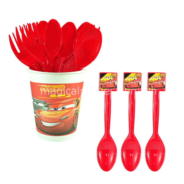 RACING MCQUEEN 6pc Party Spoon Set