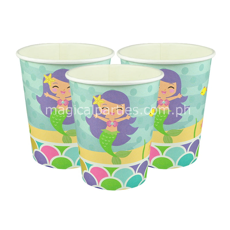 LITTLE MERMAID 6pc Party Cups Set