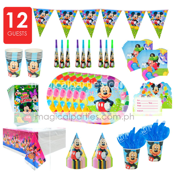 MICKEY MOUSE Party Deluxe Set for 12 Guests