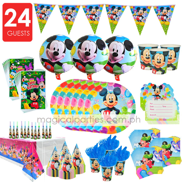MICKEY MOUSE Party Premium Set for 24 Guests