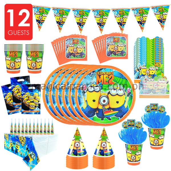 MINION Party Kit Deluxe Set for 12 Guests
