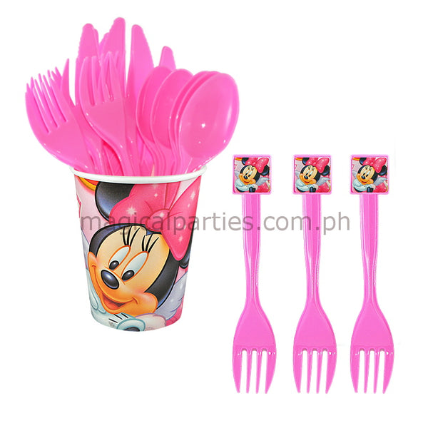 MINNIE MOUSE 6pc Party Fork Set