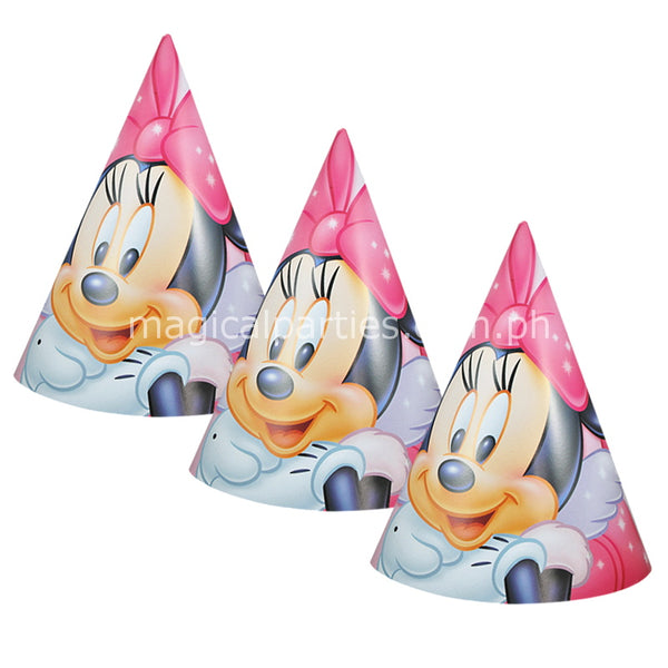 MINNIE MOUSE 6pc Party Hats Set