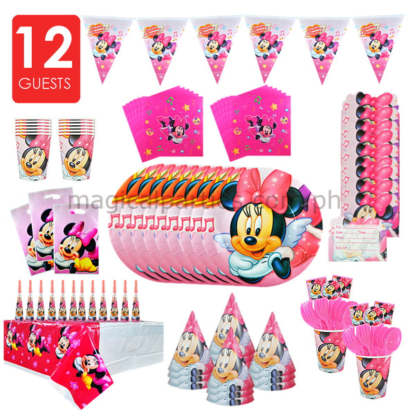 MINNIE MOUSE Party Kit Deluxe Set for 12 Guests