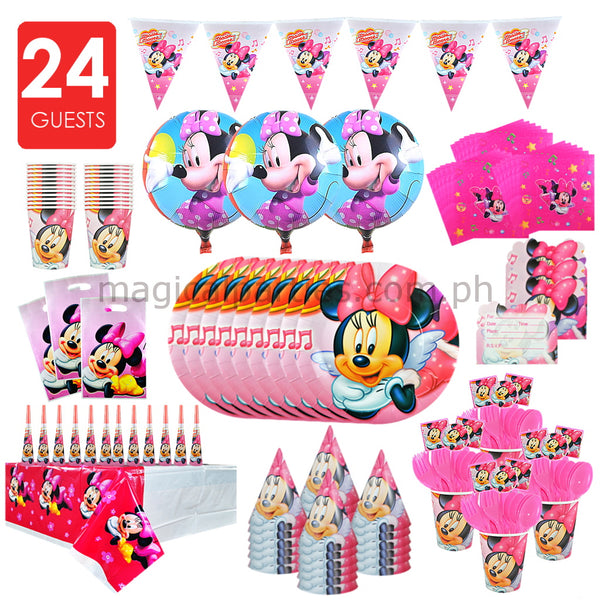 MINNIE MOUSE Party Kit Premium Set for 24 Guests