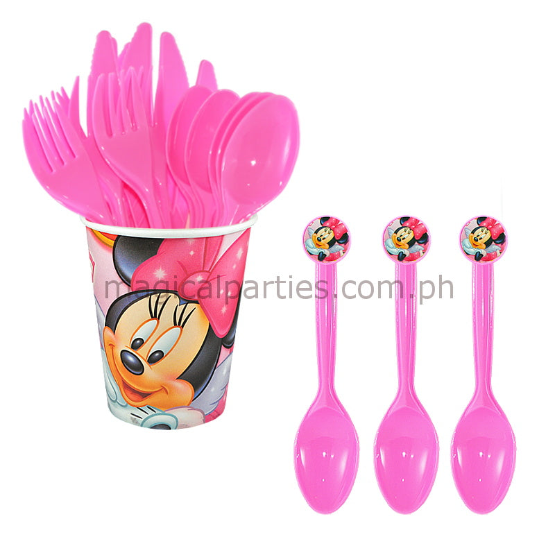 MINNIE MOUSE 6pc Party Spoon Set