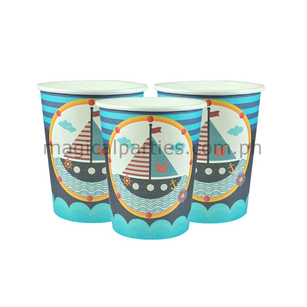 NAUTICAL 6pc Party Cups Set