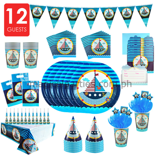 NAUTICAL Party Kit Deluxe Set for 12 Guests