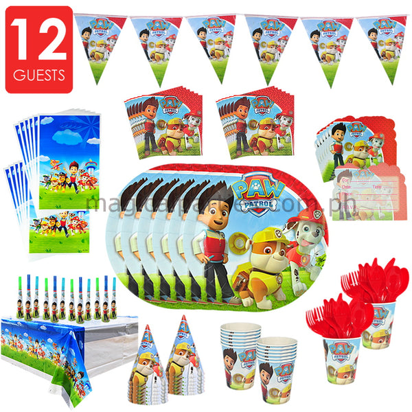 PAW PATROL Party Deluxe Set for 12 Guests