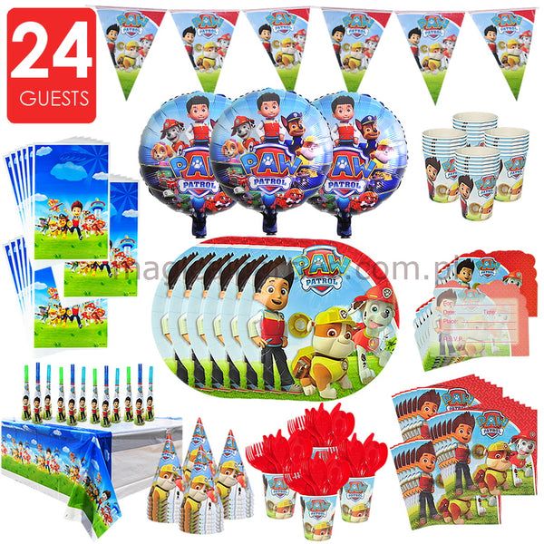 PAW PATROL Party Premium Set for 24 Guests