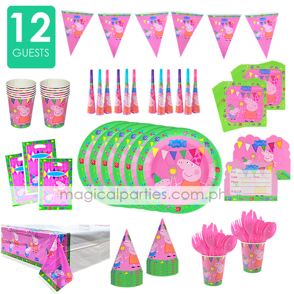 PEPPA PIG Party Deluxe Set for 12 Guests