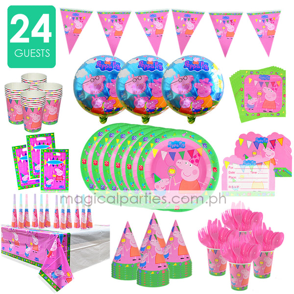 PEPPA PIG Party Premium Set for 24 Guests