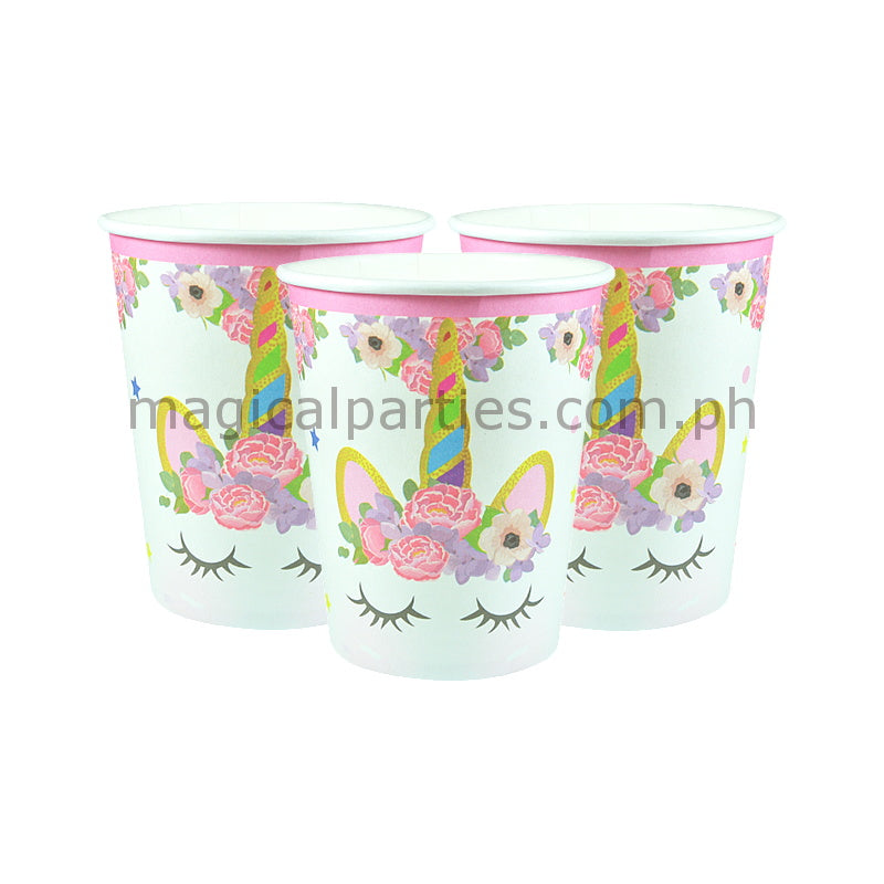 PINK UNICORN 6pc Party Cups Set