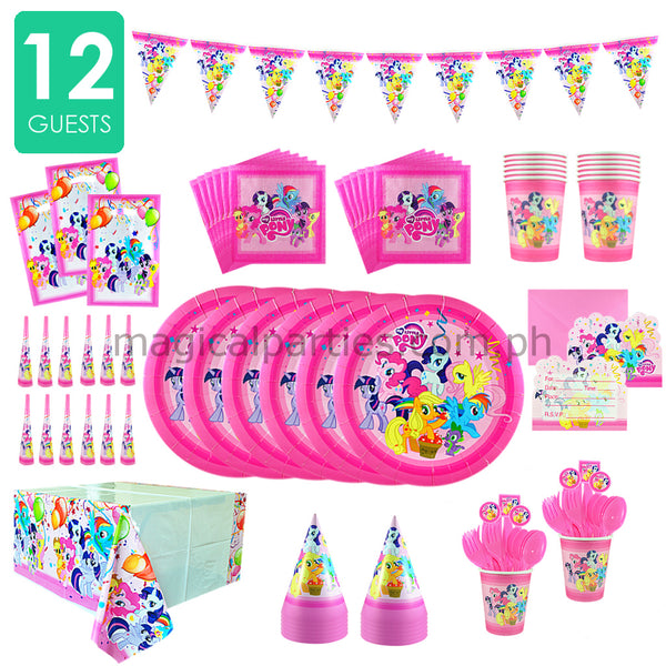 LITTLE PONY Party Kit Deluxe Set for 12 Guests