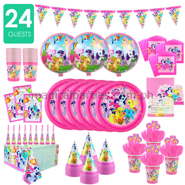 LITTLE PONY Party Kit Premium Set for 24 Guests